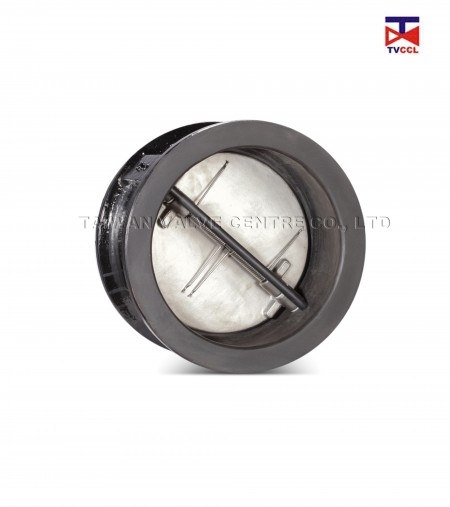 Cast Iron Dual Plate Wafer Type Check Valve with Full Rubber - Rubber Full Lining Butterfly Type Wafer Check Valve