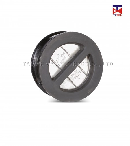 Ductile Iron Dual Plate Wafer Type Check Valve with Full Rubber - Rubber Full Lining Butterfly Type Wafer Check Valve