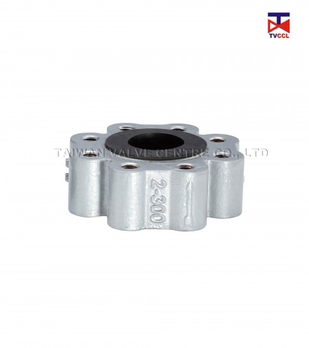 Ductile Iron Dual Plate Full Lug Type With Full  Rubber Check Valve - Soild lug check valve with full rubber Design.