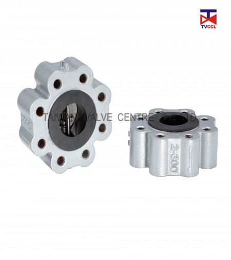 Dual Plate Full Lug Type Check Valve with Full Rubber - Soild lug check valve with full rubber Design.