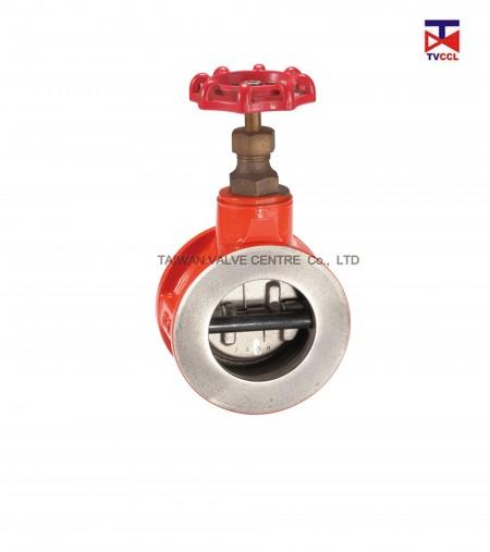Двойной пластинчатый обратный клапан перепускного типа