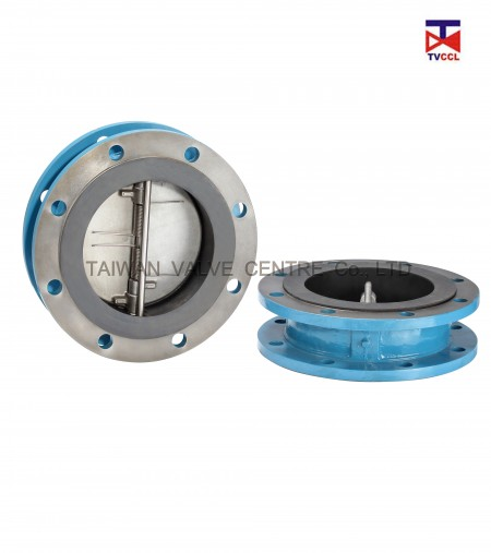 Dual Plate Flange Type Check Valve with Full Rubber