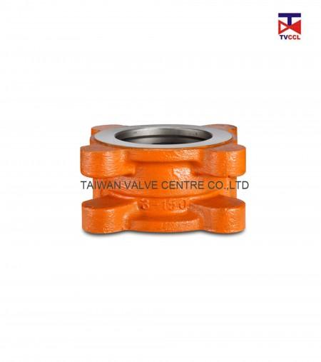 Dual plate lug type check valve