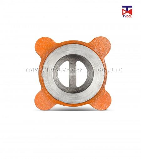Обратный клапан с двумя пластинами из литой стали