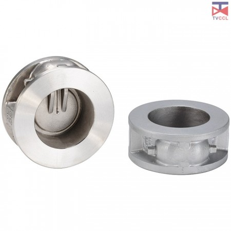 304 Stainless Steel Single Door Wafer Type Check Valve with Long Type - Long Pattern Single plate Check Valves
