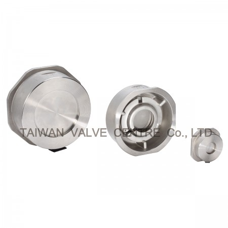 Spring Type Check Valve - Spring Loaded Disc-type Check Valves body is sandwiched between pipe flanges.
