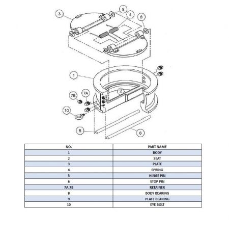 Q:How To Assemble Double Plate Check Valve? - Double plate check valve assembly