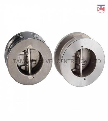 Двойной пластинчатый обратный клапан вафельного типа с без фиксатора