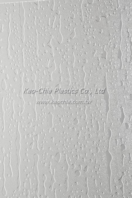 General Purpose Polystyrene Patterned Sheet - Rain Drop