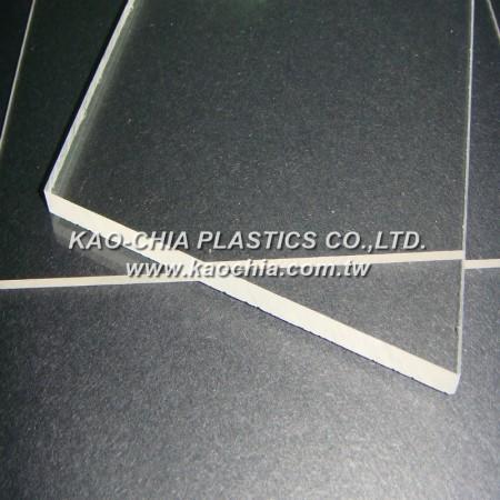 Folha de acrílico fundido transparente