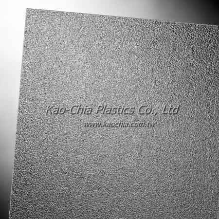 Folha com padrão acrílico transparente