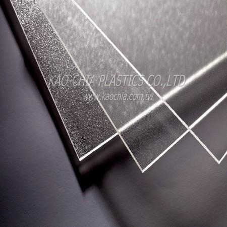 Folha com padrão acrílico translúcido
