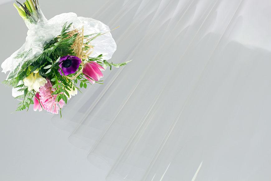 ล้างกระดาษแก้ว BOPP ห่อดอกไม้ในม้วนและแผ่น