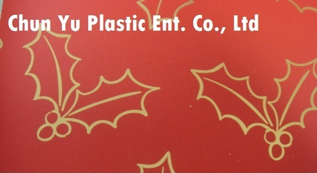 60gram metallized paper printed with Holly & Leaves designs for your selected Christmas gifts wrapping