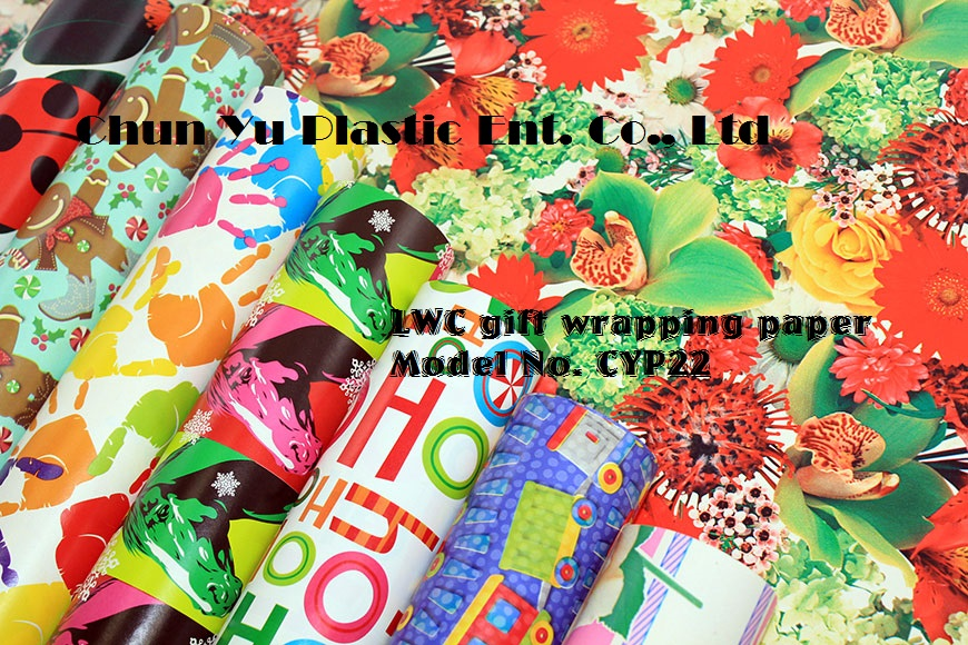 LWC Gift wrapping paper printed with universal designs for your gifts for everyday occasions