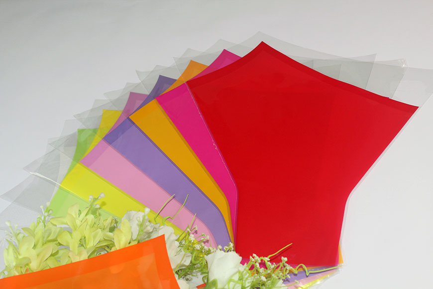 BOPP Flower Sleeves Flower Wrapping for cutting flowers, potted flowers and potted plants. Flower bags are in Various Designs, Patterns, Colors and Shapes. We can print flower sleeves with customers' own logos