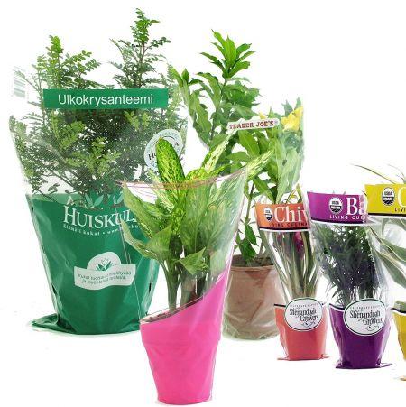 ปลอกแขนลายดอกไม้และพืช BOPP & CPP