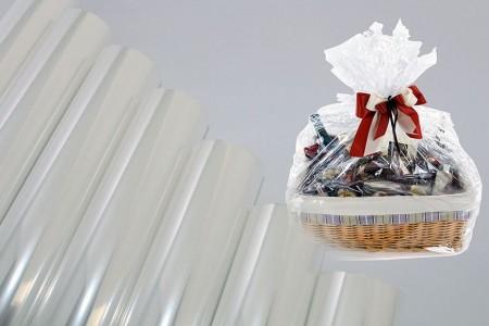Целофанова плівка BOPP прозора звичайна, без друку упаковки для подарунків - Плівка з целофанової плівки BOPP, прозора, без друку в рулоні та аркуші для упаковки подарунків та пакування квітів