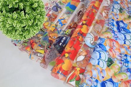 فيلم BOPP بتصميم غلاف زهور مطبوع وتغليف هدايا - لفائف السيلوفان بوب فيلم زهرة التفاف في لفة ورقة
