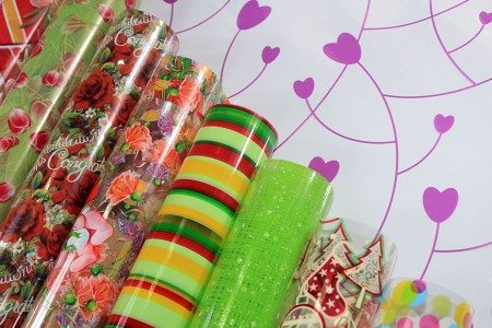 Cellophane BOPP Film With Design Printed Gift Wrapping Paper