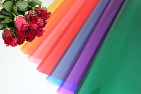 Filme BOPP com embalagem de flores e embalagem para presentes em cores translúcidas - Papel de celofane BOPP com impressão em cores transparentes em rolo e folha