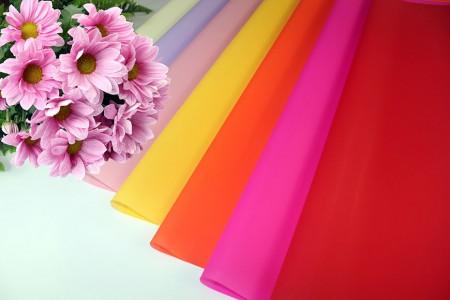 Filme BOPP com embrulho de flores impressas em cores mate e embrulho de presente - Papel celofane impresso em cores opacas BOPP para flores em rolo e folha