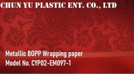 Metallic BOPP printeed with Christmas Icons pattern