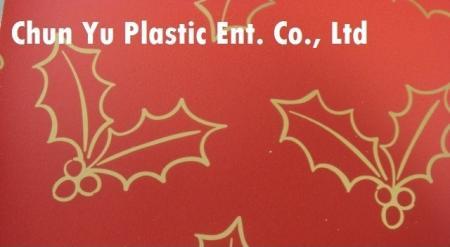 Model nr CYP08-EM055 60 gramowy metaliczny papier do pakowania prezentów Holly & Leaves