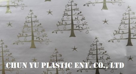 Model nr CYP08-EM063 Choinki 60-gramowy metalowy papier do pakowania prezentów