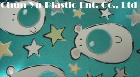 Metallic gift wrapping paper printed with Reindeers & Stars designs for Christmas season (Model No. CYP08-EM089)