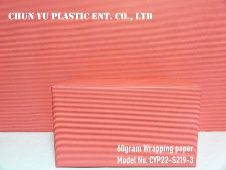 Model No. CYP22-S219: 60gram Stripes Everyday Gift Wrapping Paper - Kertas pembungkus kado 60gram dicetak dengan desain garis-garis untuk persiapan kado