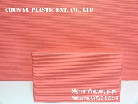 Modell Nr. CYP22-S219: 60 Gramm Streifen Geschenkpapier für den Alltag - 60 Gramm Geschenkpapier bedruckt mit Streifendesign für die Geschenkvorbereitung