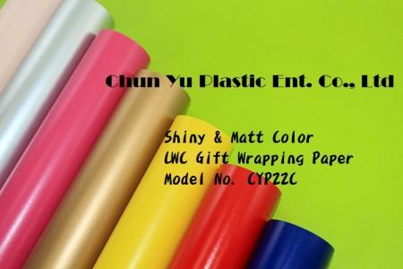 Jednokolorowy papier do pakowania prezentów LWC - Papier do pakowania prezentów z nadrukiem w nasyconym kolorze odpowiedni na święta Bożego Narodzenia, urodziny i na każdą okazję.
