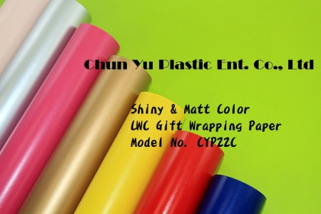 Solid Color LWC Gift Wrapping Paper - Gift wrapping paper printed with saturated color suitable for Christmas holiday, birthday and all occasions.
