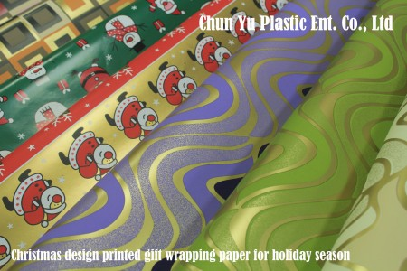 80gram Christmas holiday design printed gift wrapping paper