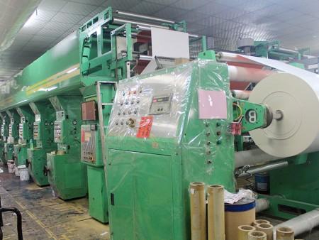 Высокоскоростная цветная печатная машина 6 + 1 для печати на подарочной упаковочной бумаге.