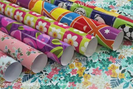 Fornecedor de papel de embrulho para presentes de Natal, todos os dias e todas as ocasiões