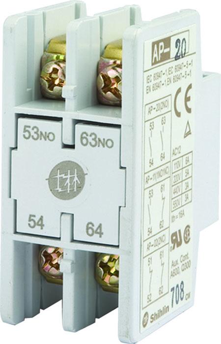 Shihlin Electric सहायक संपर्क ब्लॉक एपी -2 पी फ्रंटल प्रकार