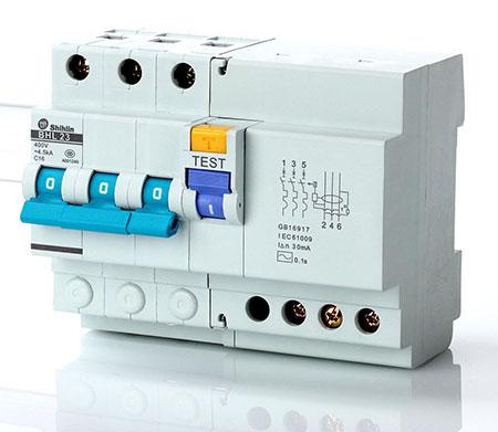 Disjuntor de corrente residual Shihlin Electric com proteção de sobrecorrente BHL