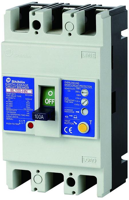 Shihlin Electric Disjuntor de Vazamento de Terra BL100-HN