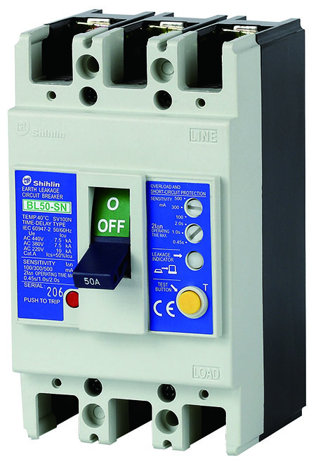 Shihlin Electric Earth Leakage Circuit Breaker BL50-SN