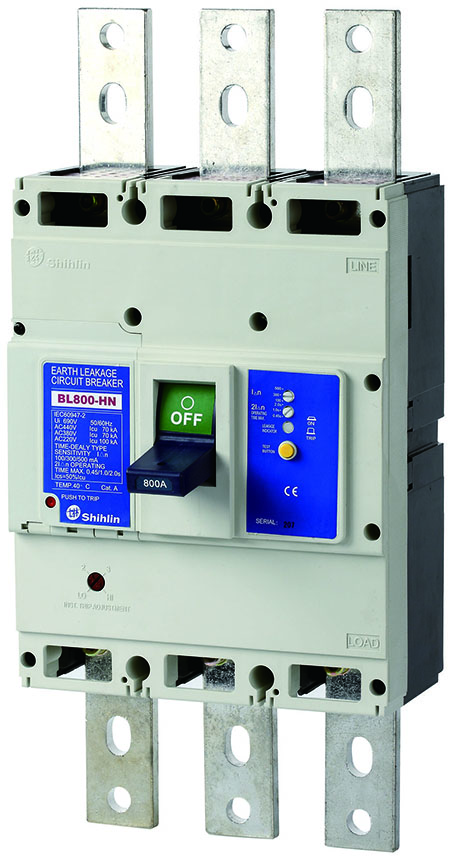Shihlin Electric Disjuntor de Fuga à Terra BL800-HN