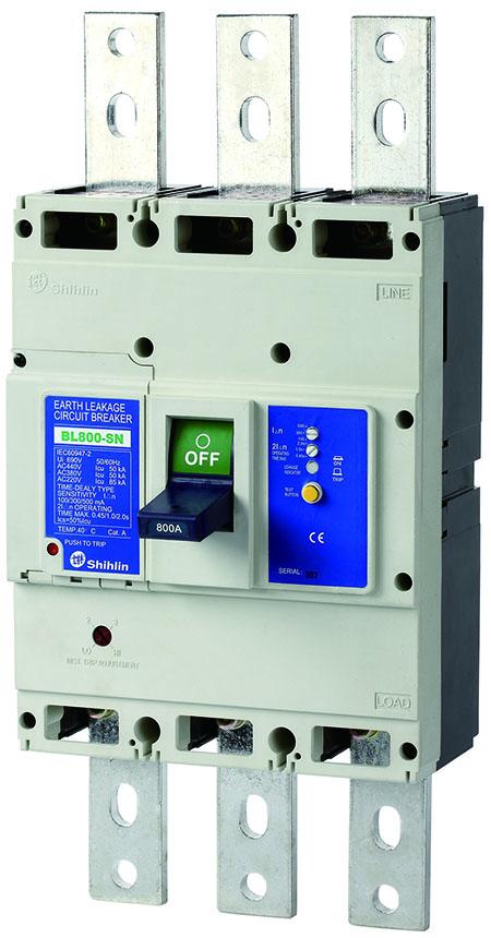 Disjuntor elétrico BL800-SN do escapamento da terra de Shihlin Electric