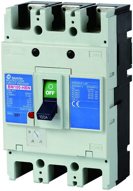 Disjuntor em caixa moldada Shihlin Electric BM100-HBN