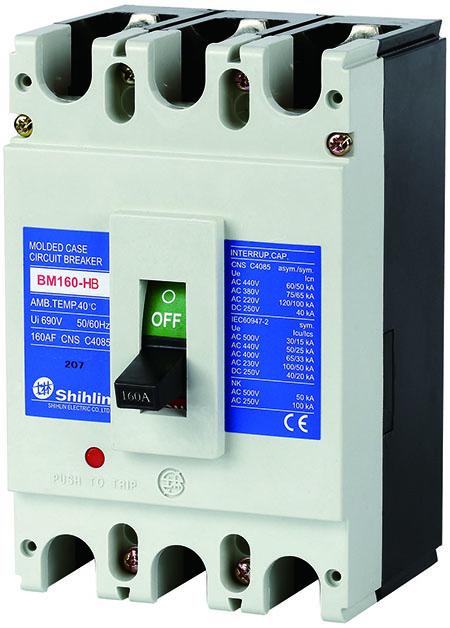 Shihlin Electric Disjuntor em caixa moldada BM160-HB