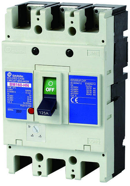 Shihlin Electric Disjuntor em caixa moldada BM160-HN