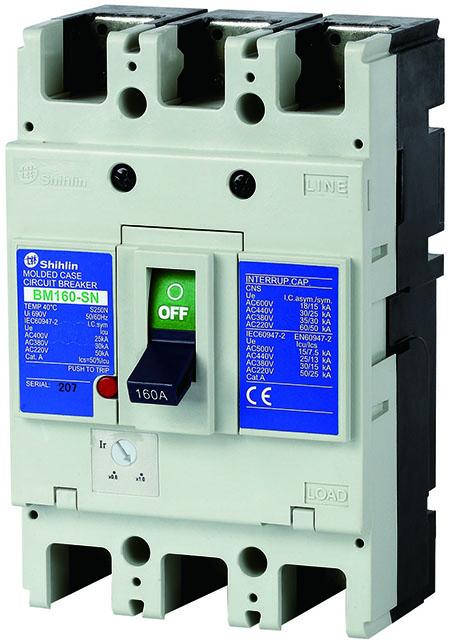 Shihlin Electric Molded Case Circuit Breaker BM160-SN
