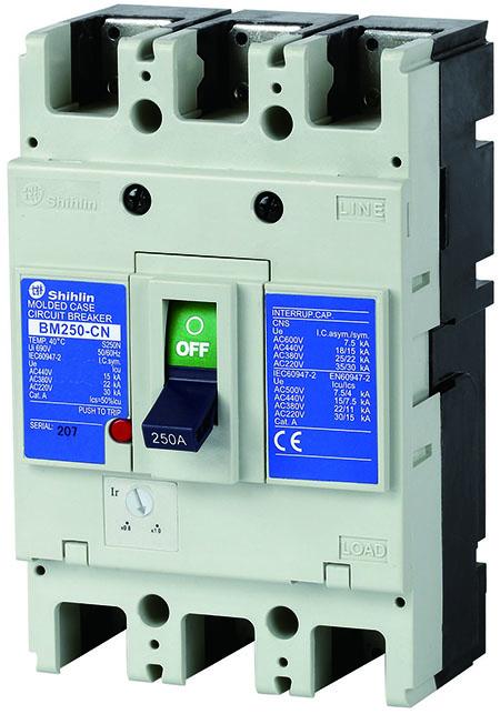 Shihlin Electric Disjuntor em caixa moldada BM250-CN