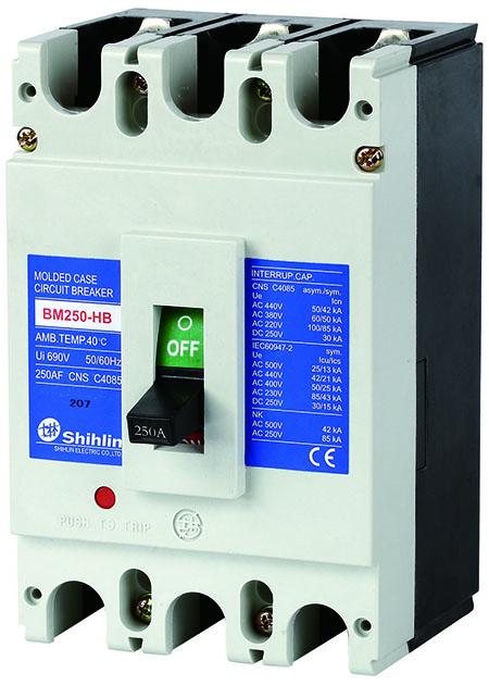 Shihlin Electric Disjuntor em caixa moldada BM250-HB