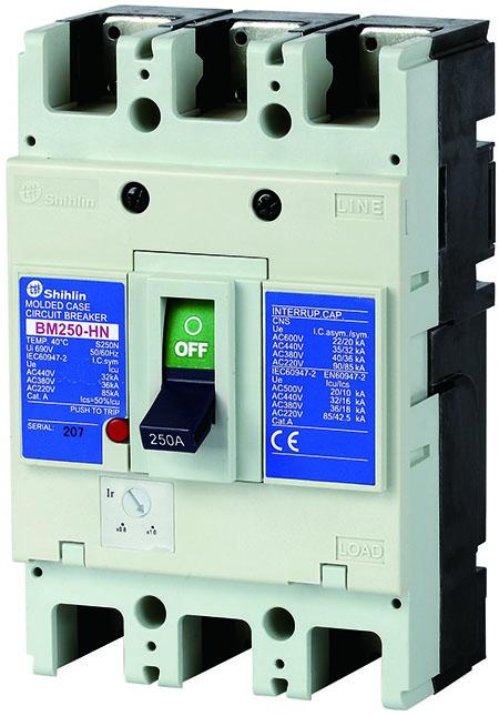 Shihlin Electric مصبوب حالة الدائرة قواطع BM250-HN